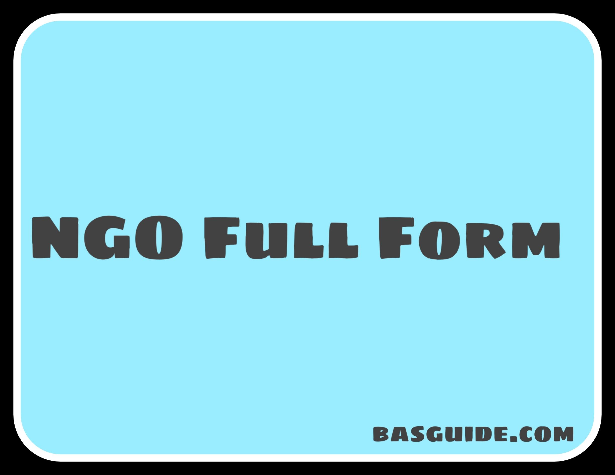 NGO Full Form
